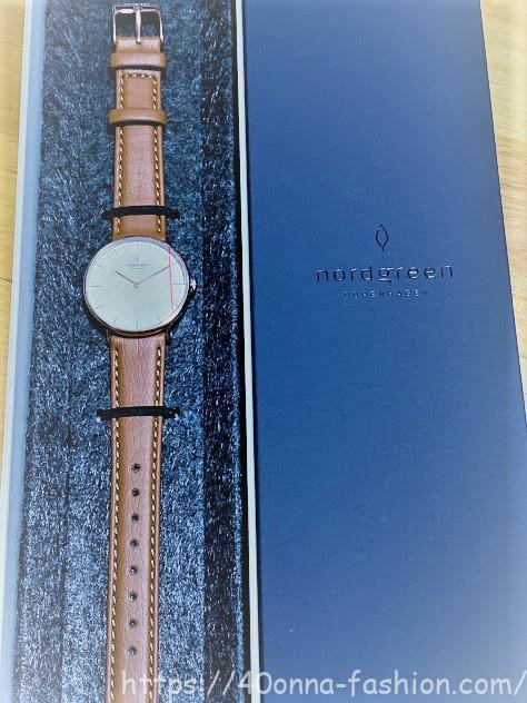 ノードグリーン腕時計